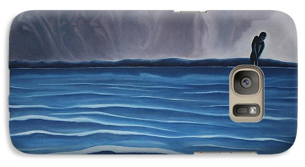 Galaxy Case featuring the painting Solitude by Michael  TMAD Finney