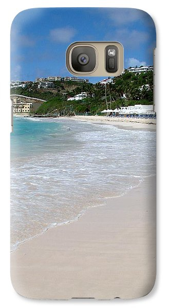 Galaxy Case featuring the photograph Solitude On Dawn Beach by Margaret Bobb