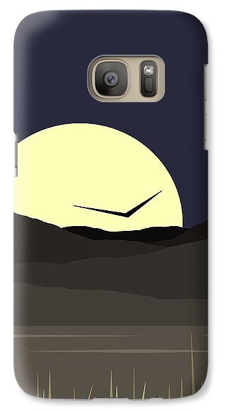 Galaxy Case featuring the digital art Solo Flight - Vertical by Val Arie