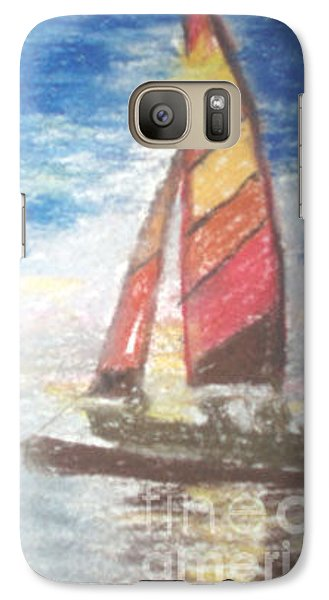 Galaxy Case featuring the painting Solo Ride by Trilby Cole