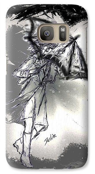 Galaxy Case featuring the drawing Some Days It Just Pays To Stay In Bed by Desline Vitto