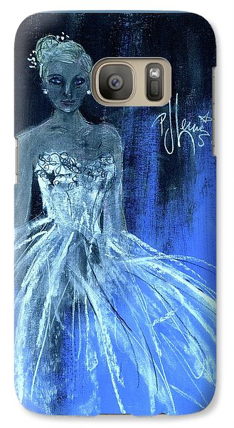 Galaxy Case featuring the painting Something Blue by P J Lewis