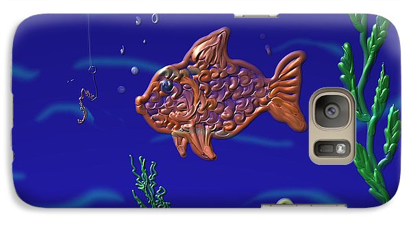 Galaxy Case featuring the painting Something Fishy by Kevin Caudill