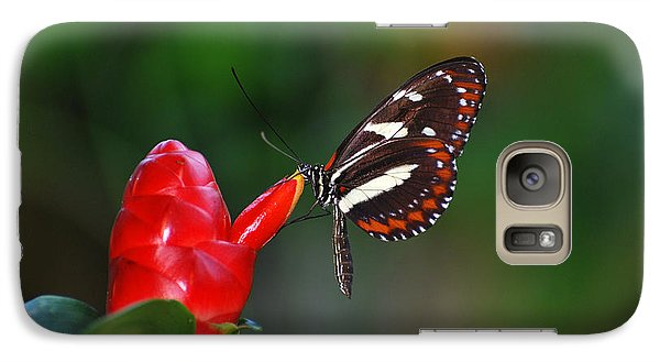 Galaxy Case featuring the photograph Something Red by Teresa Blanton