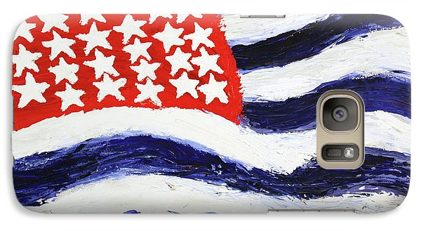 Galaxy Case featuring the painting Something's Wrong With America by Thomas Blood