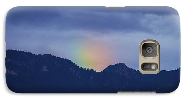Galaxy Case featuring the photograph Sometimes The Rainbow Is On The Other Side Of The Mountain by Colleen Williams