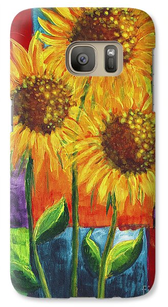 Galaxy Case featuring the painting Sonflowers I by Holly Carmichael