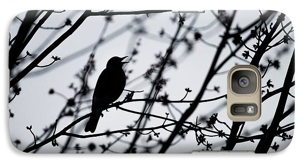 Galaxy Case featuring the photograph Song Bird Silhouette by Terry DeLuco