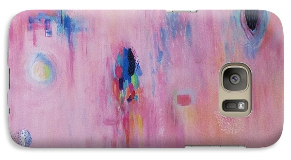 Galaxy Case featuring the painting Working Through The Layers Pink by Suzzanna Frank