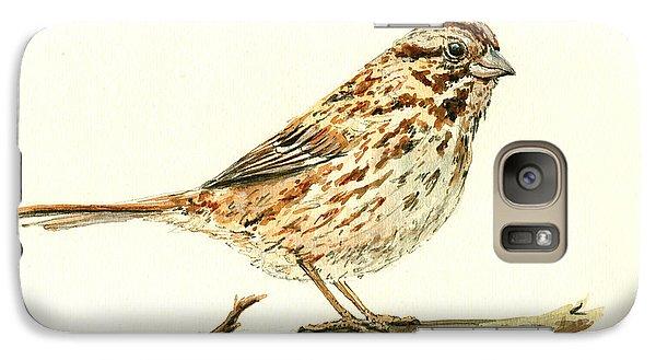 Sparrow Galaxy S7 Case - Song Sparrow by Juan  Bosco