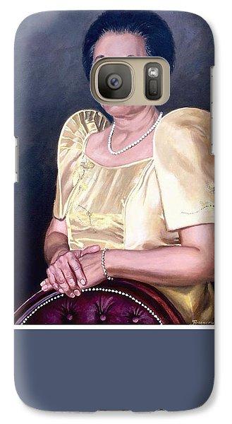 Galaxy Case featuring the painting Sonia by Rosencruz  Sumera