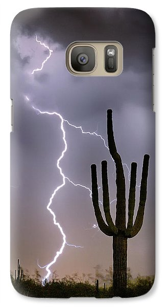Galaxy Case featuring the photograph Sonoran Desert Monsoon Storming by James BO Insogna