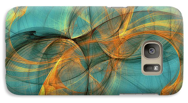 Galaxy Case featuring the digital art Soothing Blue by Deborah Benoit