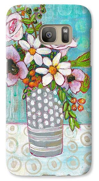 Sophia Daisy Flowers Galaxy S7 Case by Blenda Studio