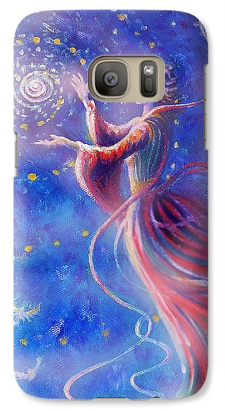 Galaxy Case featuring the mixed media Sophia Finds Wisdom by Dee Davis