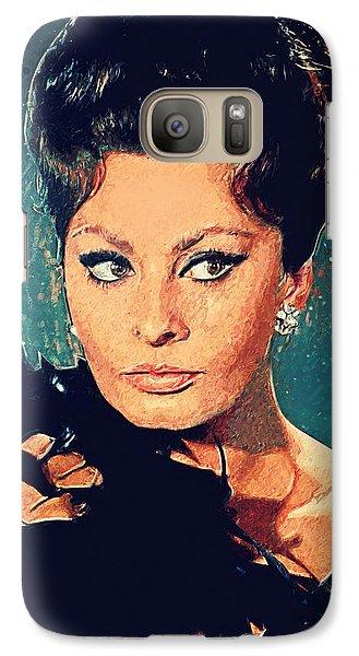 Sophia Loren Galaxy S7 Case