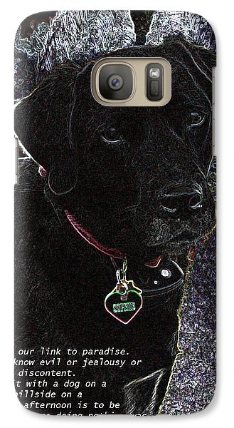 Galaxy Case featuring the mixed media Sophie by Charles Shoup