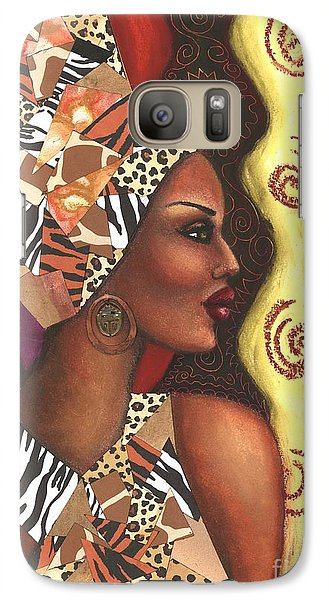 Galaxy Case featuring the mixed media Sophisticated Safari by Alga Washington