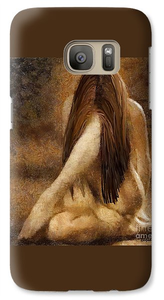 Galaxy Case featuring the painting Sorrow by Elizabeth Coats
