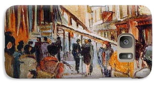 Galaxy Case featuring the painting Souk De Buci by Walter Casaravilla
