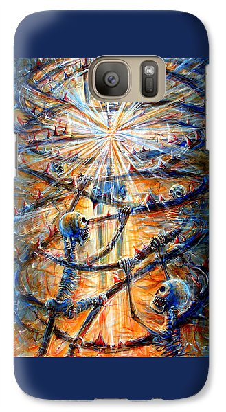 Galaxy Case featuring the painting Soul Evolution by Heather Calderon