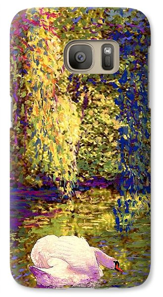 Impressionism Galaxy S7 Case - Swans, Soul Mates by Jane Small