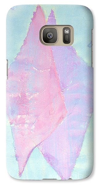 Galaxy Case featuring the painting Soul Mates Meeting by Asha Carolyn Young