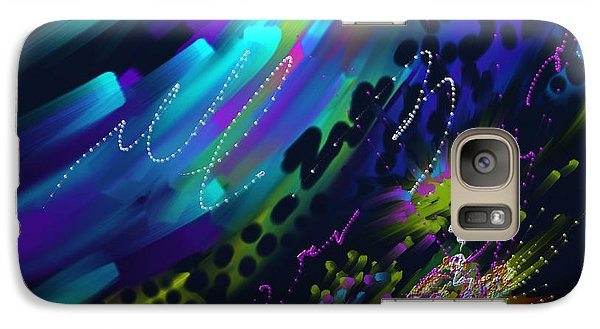 Galaxy Case featuring the painting Soul So Blue by Kevin Caudill
