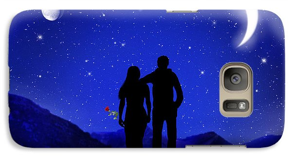 Galaxy Case featuring the digital art Soulmates by Bernd Hau