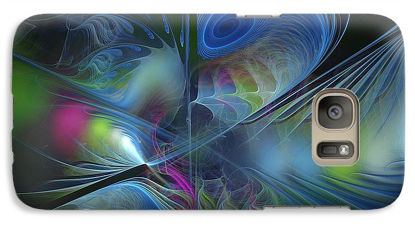 Galaxy Case featuring the digital art Sound And Smoke by Karin Kuhlmann