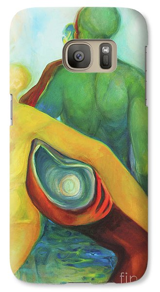 Galaxy Case featuring the painting Source Keepers by Daun Soden-Greene