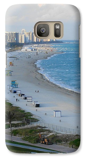 Galaxy Case featuring the photograph South Beach At Its Best by Margaret Bobb