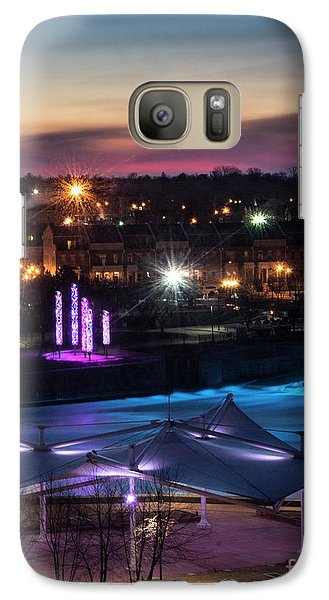 Galaxy Case featuring the photograph South Bend River Sunrise by Brian Jones