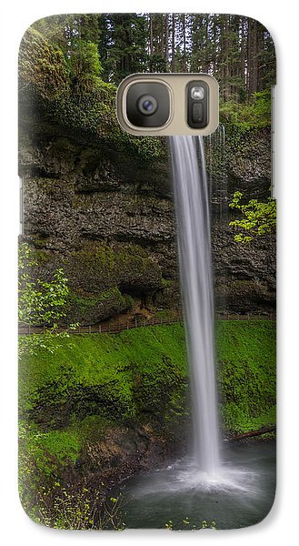 Galaxy Case featuring the photograph South Falls by Jerry Cahill