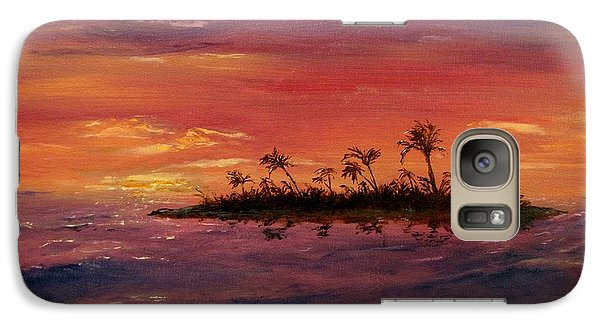 Galaxy Case featuring the painting South Pacific Atoll by Jack Skinner