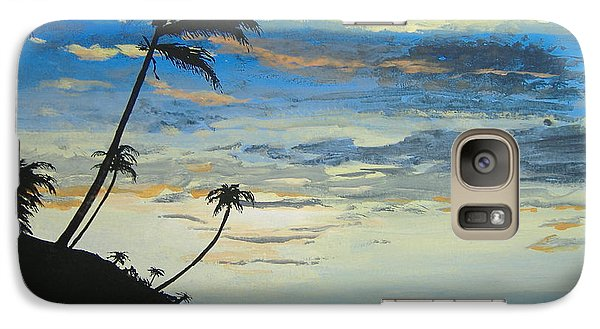 Galaxy Case featuring the painting South Sea Sunset by Norm Starks