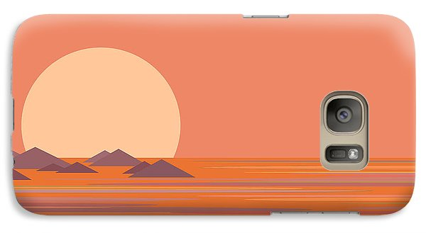 Galaxy Case featuring the digital art South Sea by Val Arie