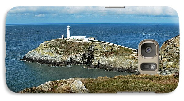 Galaxy Case featuring the photograph South Stack Light House by Lynn Hughes
