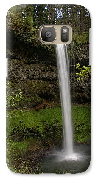 Galaxy Case featuring the photograph South Waterfalls by Jerry Cahill