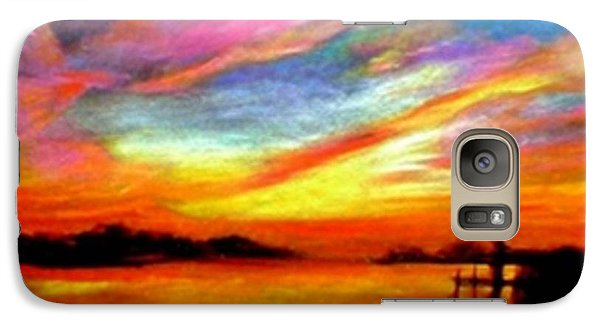Galaxy Case featuring the painting Southern Sunset by Gail Kirtz