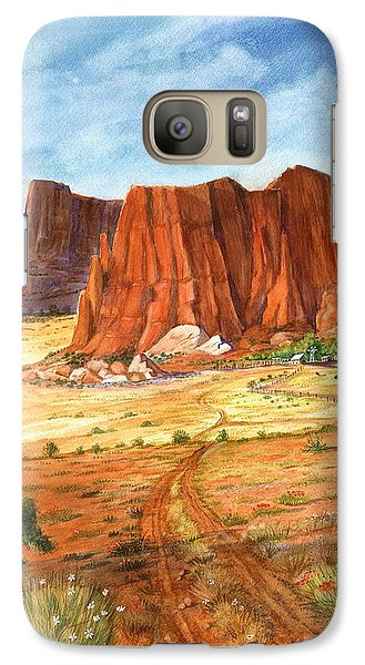 Galaxy Case featuring the painting Southwest Red Rock Ranch by Marilyn Smith