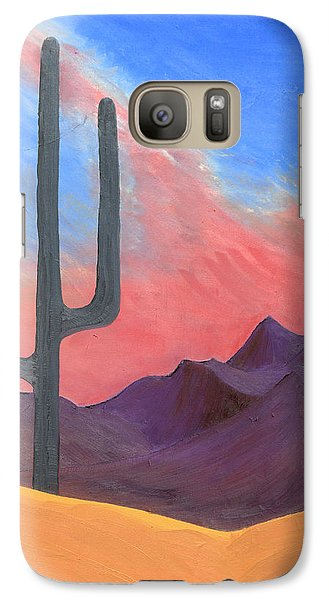 Galaxy Case featuring the painting Southwest Scene by J R Seymour