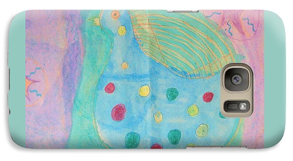 Galaxy Case featuring the drawing Southwestern Chicken by Barbara Yearty