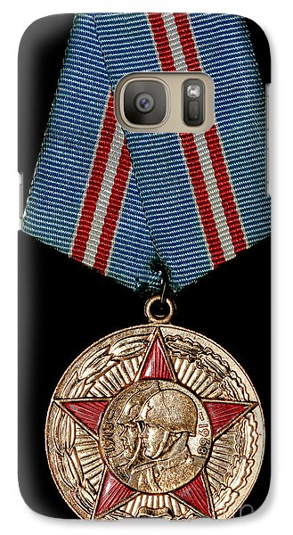 Galaxy Case featuring the photograph Soviet Military Medal by Yurix Sardinelly