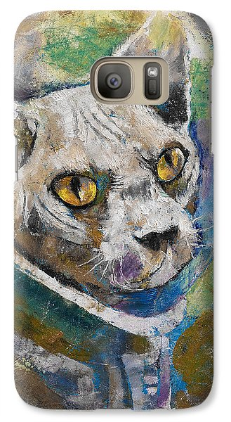 Space Cat Galaxy S7 Case by Michael Creese
