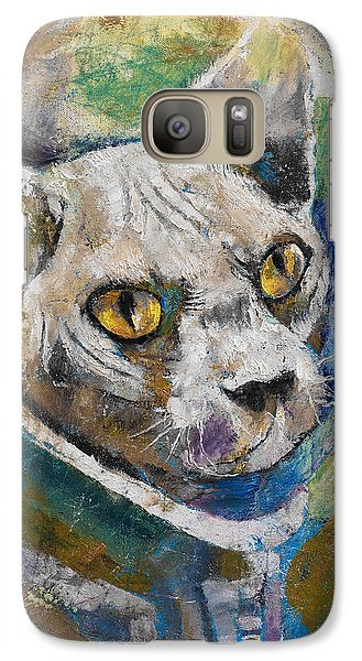 Astronaut Galaxy S7 Case - Space Cat by Michael Creese