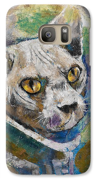Space Cat Galaxy Case by Michael Creese