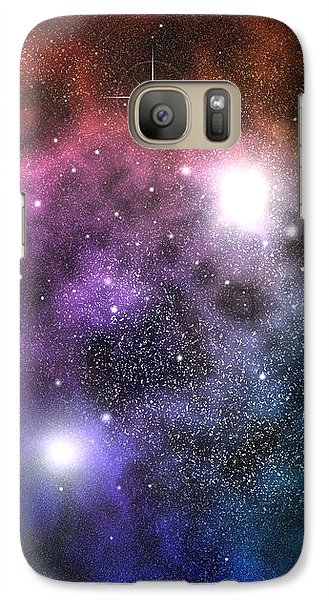 Galaxy Case featuring the digital art Space Clouds by Phil Perkins