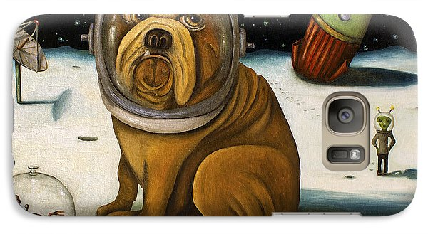 Dog Galaxy S7 Case - Space Crash by Leah Saulnier The Painting Maniac
