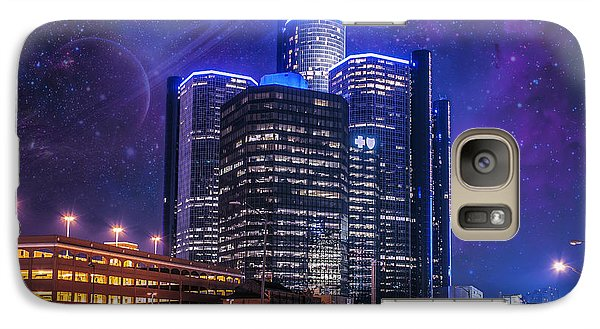 Galaxy Case featuring the photograph Space Detroit by Nicholas  Grunas
